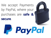 We accept PayPal Payments